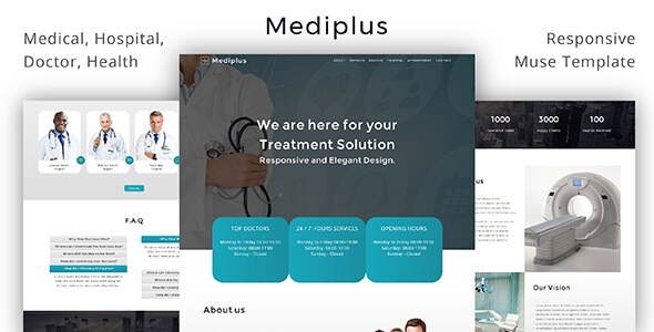 Mediplus _ Medical / Hospital /  Doctor / Health  Muse Template