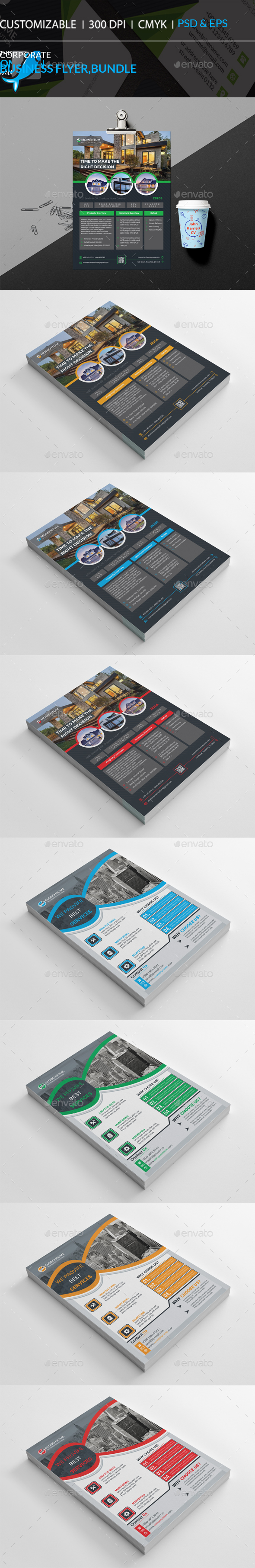 GraphicRiver Corporate Flyer Bundle 20960064