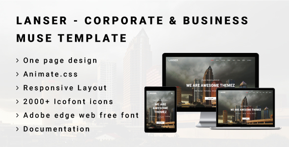 LANSER - Corporate & Business Muse Template - Corporate Muse Templates