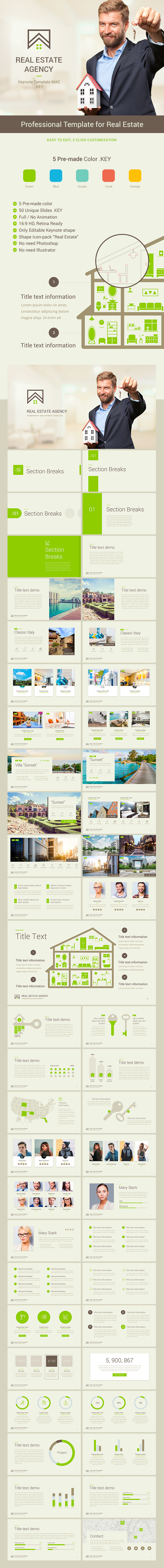 Real Estate Keynote Presentation Template - Business Keynote Templates