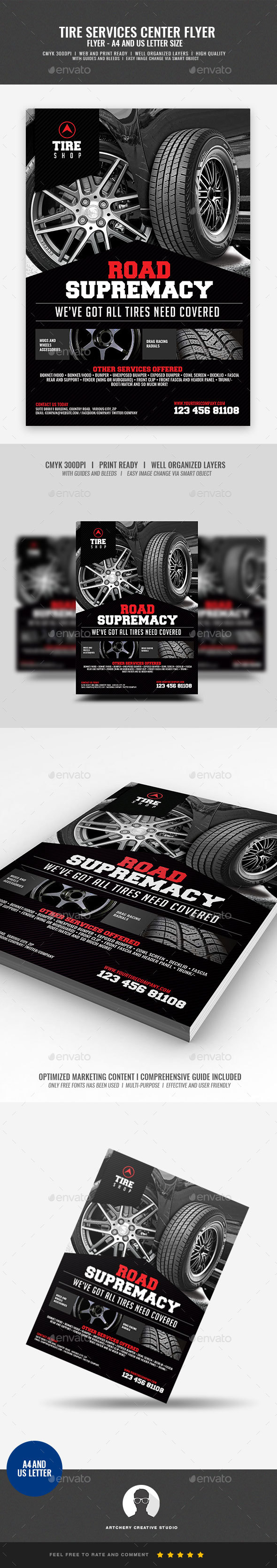 GraphicRiver Tire Shop Flyer 20960132