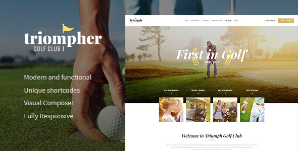 Image of Triompher | Golf Club WordPress Theme