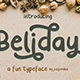 Beliday - Fun and Cute Font