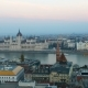 Panorama of Budapest with the Danube and the Parliament Building, Hungary. Aerial View of Budapest