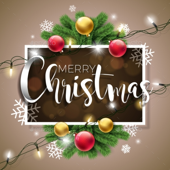 Vector Merry Christmas Illustration - Christmas Seasons/Holidays