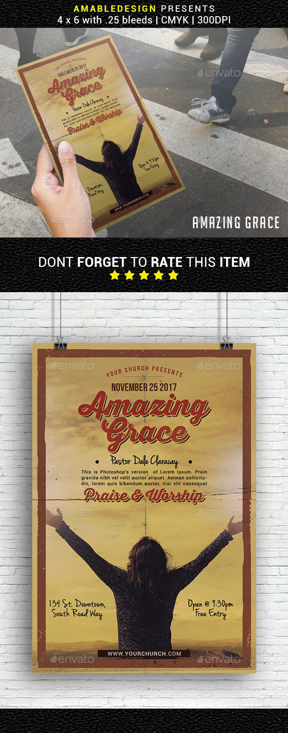 GraphicRiver Amazing Grace Church Flyer 20960216