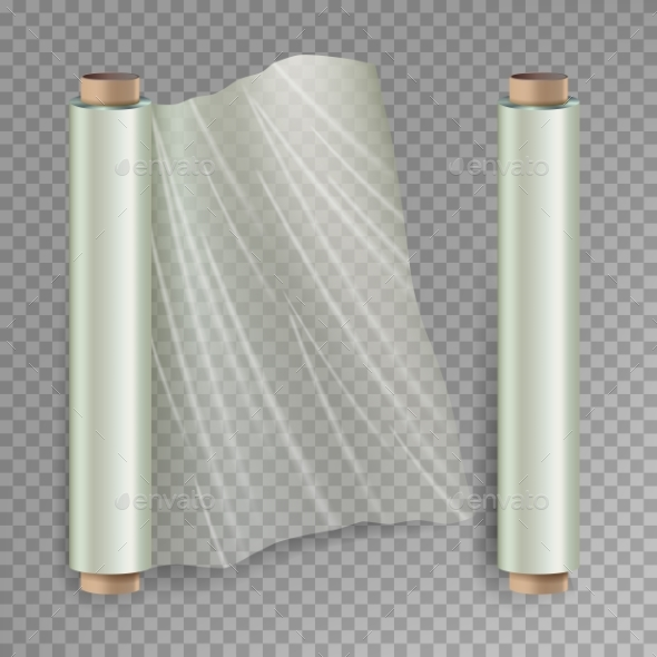 Roll of Wrapping Stretch Film Vector - Man-made Objects Objects
