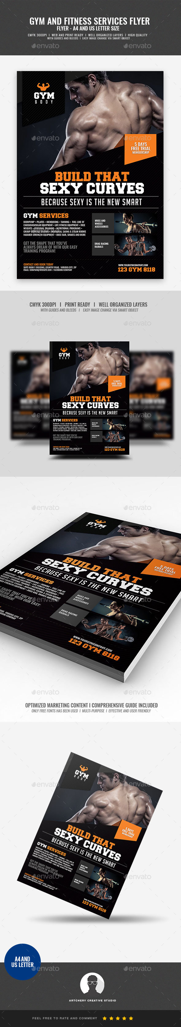 GraphicRiver Gym Fitness Flyer 20960257