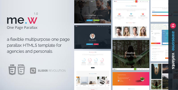 ThemeForest Mew One Page Parallax 20868843