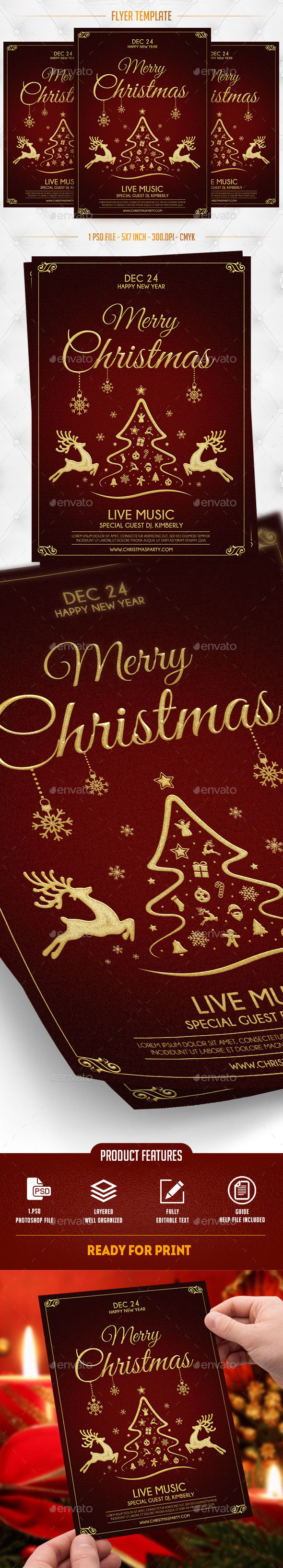 GraphicRiver Merry Christmas Flyer Template 20960273