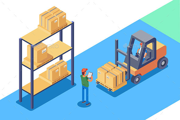GraphicRiver Warehouse for Storage and Distribution of Cargo 20960300