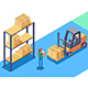Warehouse for Storage and Distribution of Cargo - GraphicRiver Item for Sale