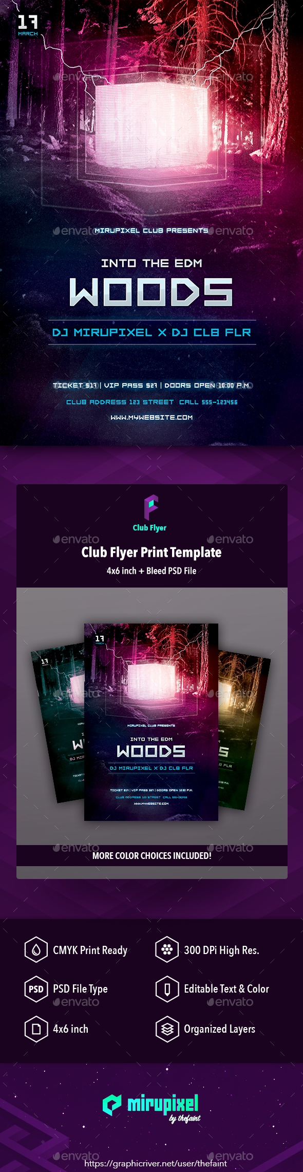 GraphicRiver Club Flyer EDM Woods 20960415