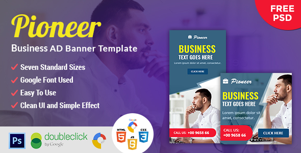 Pioneer | Business HTML 5 Animated Google Banner - CodeCanyon Item for Sale
