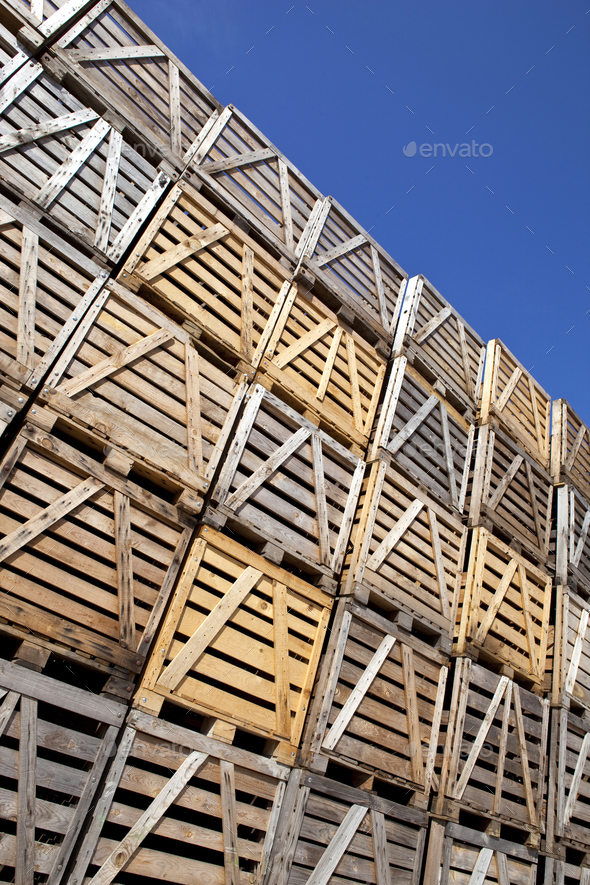 Wooden boxes - Stock Photo - Images