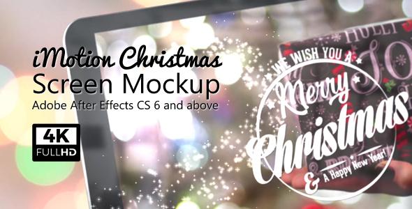 VideoHive iMotion Christmas Screen Mockup 20960598