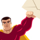 Superhero Flying Envelope - GraphicRiver Item for Sale