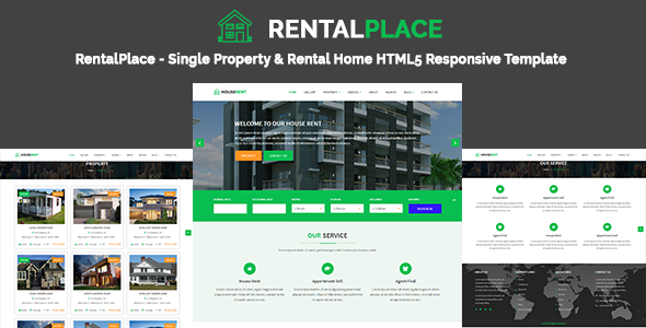 RentalPlace - Single Property & Rental Home HTML5 Responsive Template - Business Corporate