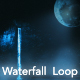 Moon Night Waterfall - VideoHive Item for Sale