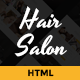 Hair Salon - Elegant HTML Template - ThemeForest Item for Sale