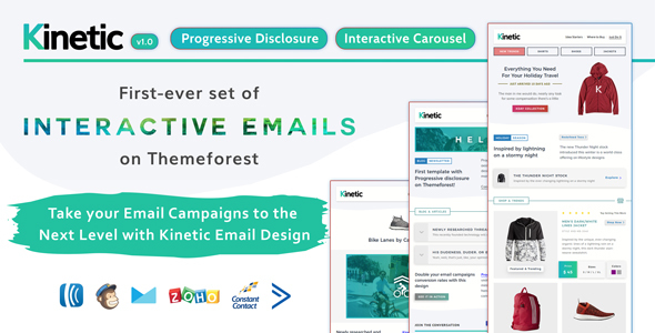 ThemeForest Kinetic UXified Interactive Emails for eCommerce & Robust Editor 20814383