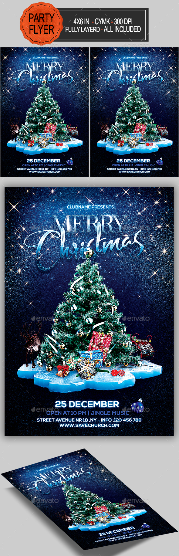 GraphicRiver Merry Christmas Flyer 20960879
