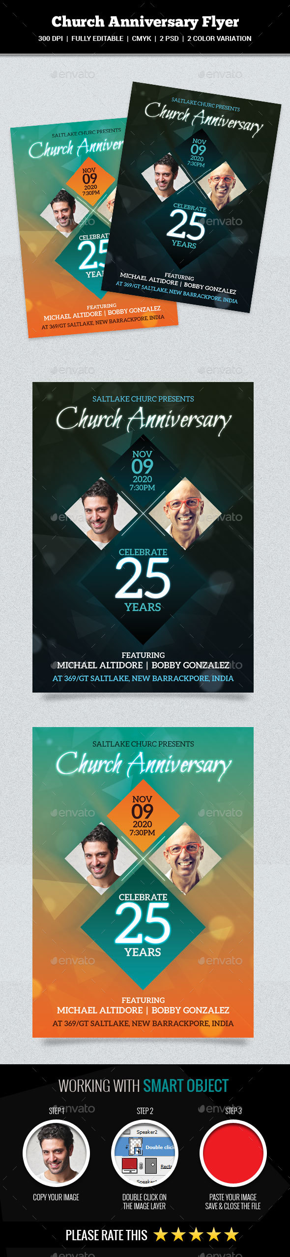 GraphicRiver Church Anniversary Flyer 20960934