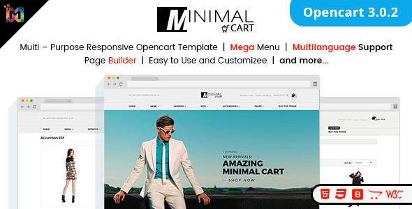 ThemeForest Minimal Cart Multipurpose Responsive eCommerce OpenCart 3 Theme 20759076