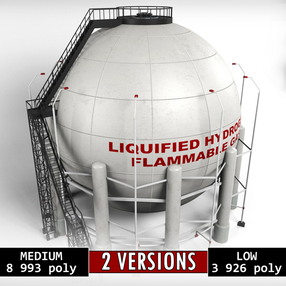 3DOcean Industrial Sphere Tank Oil 20961349