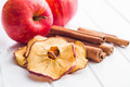 Dried apple slices and cinnamon. - PhotoDune Item for Sale