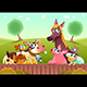 Farm Animals Smiling Near the Fence - GraphicRiver Item for Sale