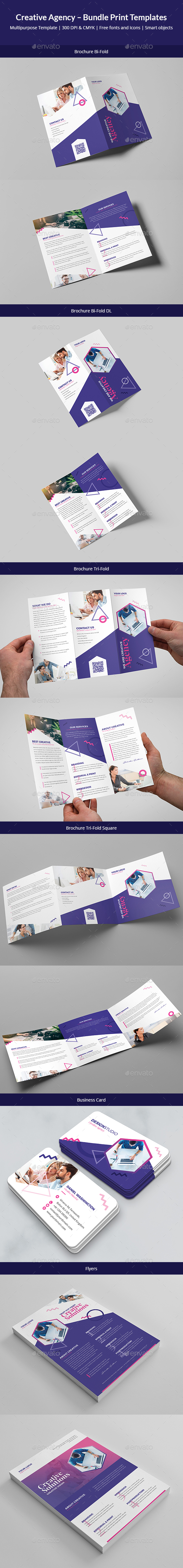 GraphicRiver Creative Agency Bundle Print Templates 6 in 1 20961506