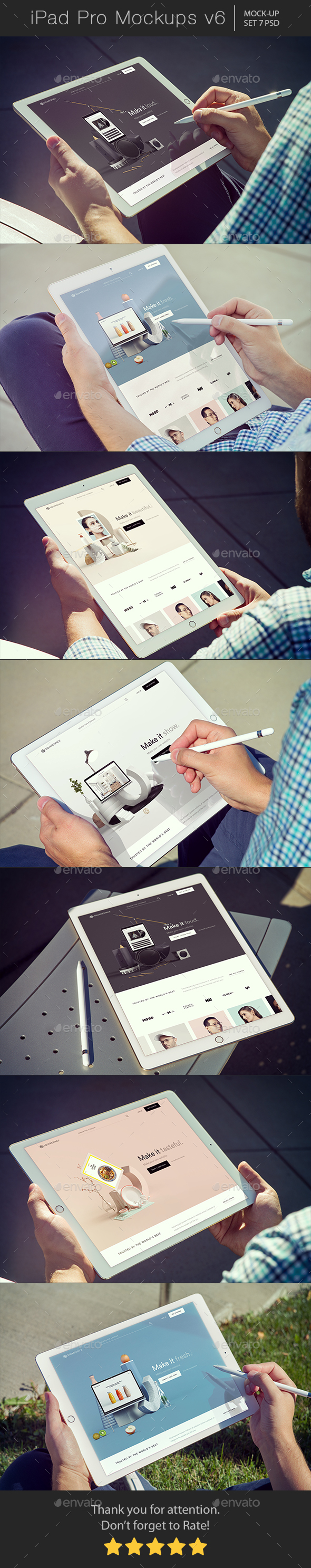 GraphicRiver Pad Pro Mockups v6 20961560