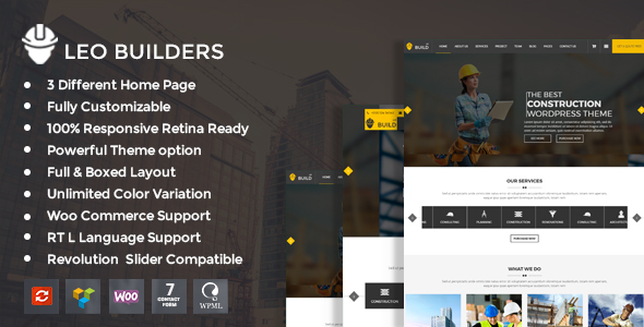 ThemeForest Leo Builders Construction & Development WordPress Theme 20413390