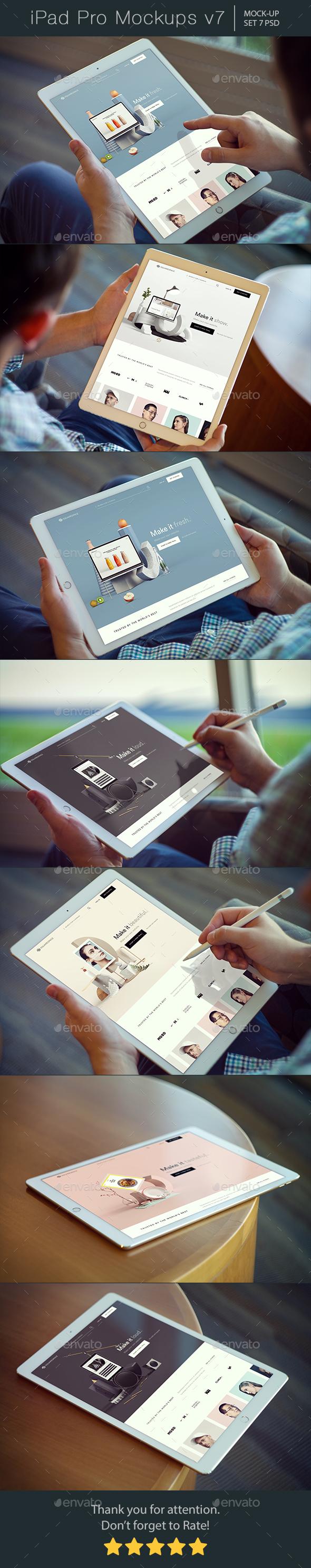 GraphicRiver Pad Pro Mockups v7 20961593