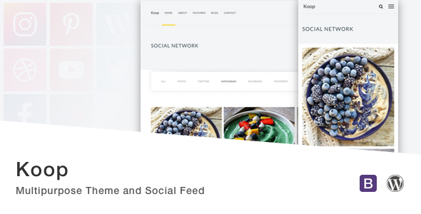 ThemeForest Koop Multipurpose Theme and Social Feed 20120685