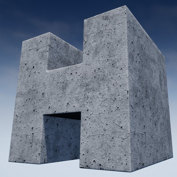 Concrete Console Material - 3DOcean Item for Sale