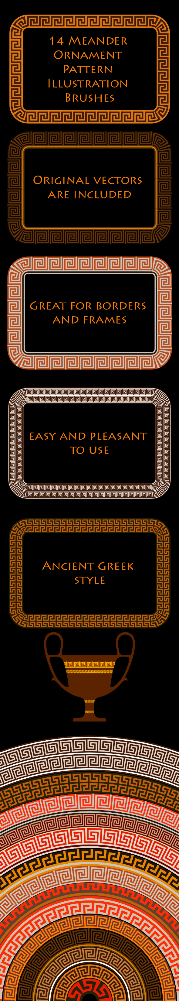 GraphicRiver Meander Ornament Ancient Greek Motive Adobe Illustrator Brushes 20961634