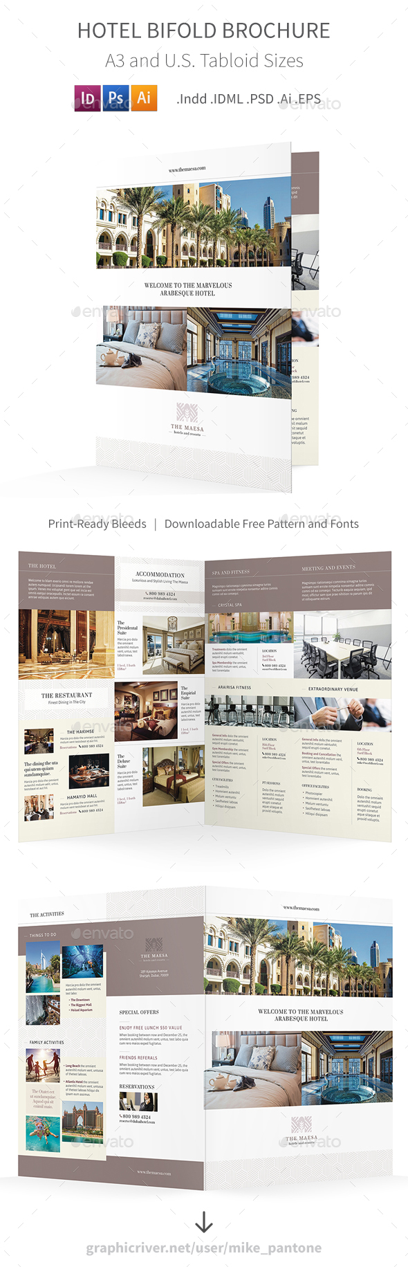 GraphicRiver Hotel Bifold Halffold Brochure 7 20961922