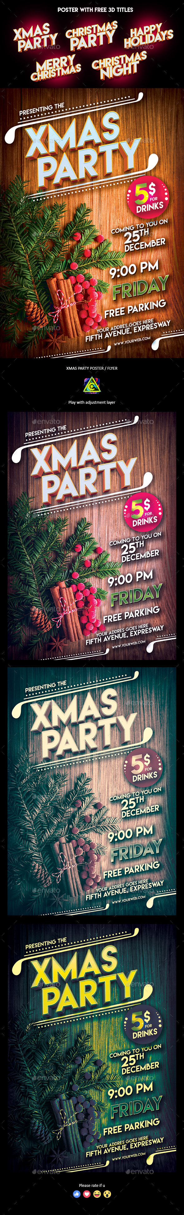 GraphicRiver Christmas Party Poster Flyer 20962032