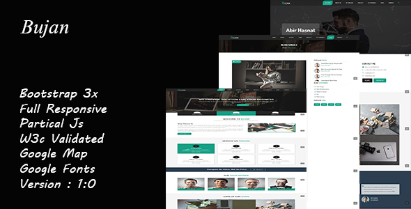 Image of Bujan - OnePage Business Template