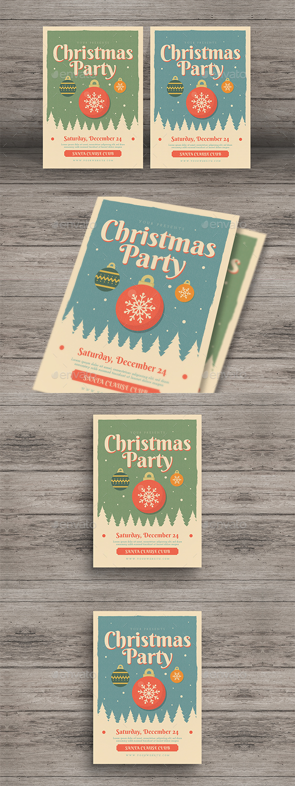 GraphicRiver Christmas Event Party Flyer 20962041