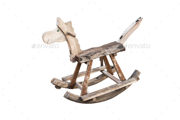rocking seesaw horse isolated - Stock Photo - Images