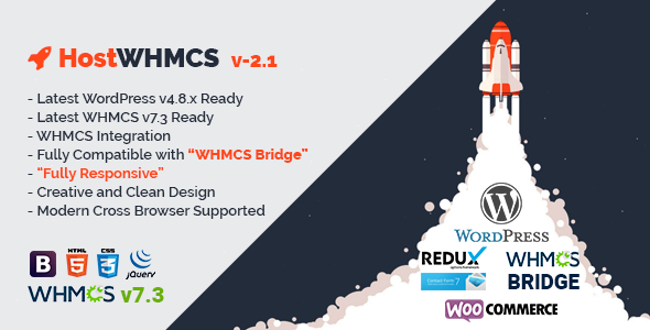HostWHMCS   Responsive Hosting and WHMCS WordPress Theme - Hosting Technology