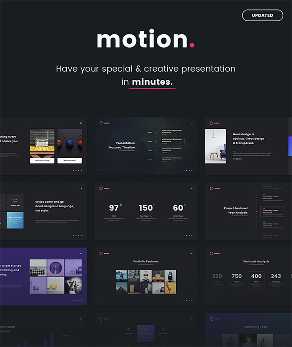 GraphicRiver Motion Creative & Multipurpose Template Powepoint 20962122