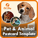Pet Postcard | Animal Postcard Templates