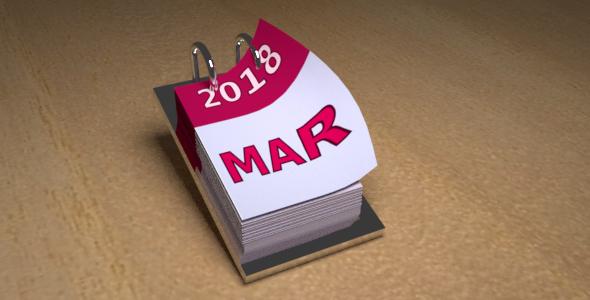3DOcean Animated Desk Calendar 20962174