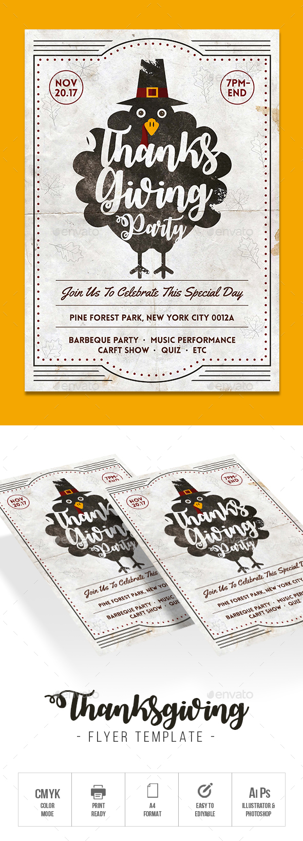 GraphicRiver Thanksgiving Flyer 20962182