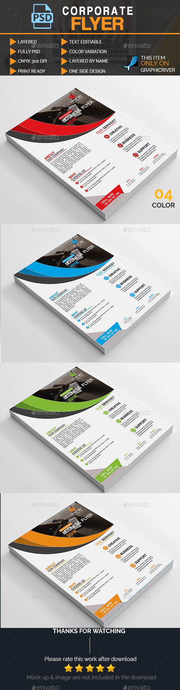 GraphicRiver Corporate Flyer 20962191