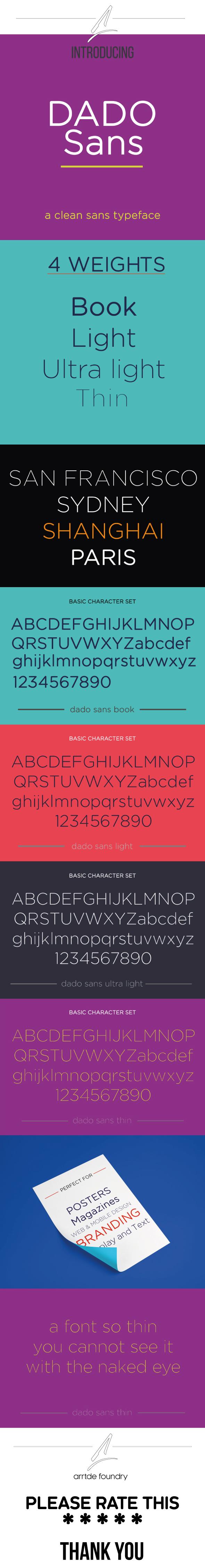 GraphicRiver Dado Sans Typeface 20946094